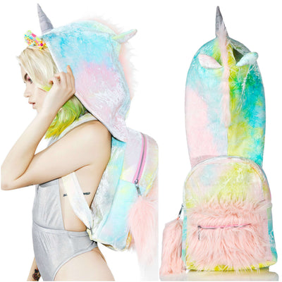 [LIMITED EDITION] Rainbow Unicorn Hooded Backpack