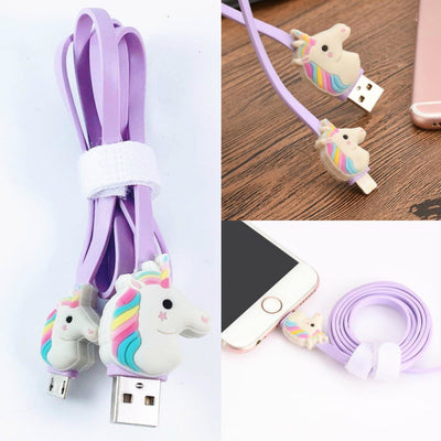 Rainbow Unicorn USB Cable Line