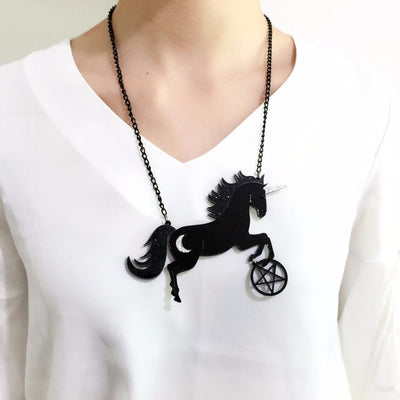 Black Unicorn Moon Necklace - Well Pick Review