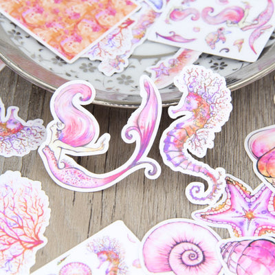 24Pcs/Set Pink Purple Mermaid in Sea Stickers - Well Pick Review