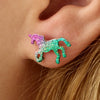Glitter Unicorn Shinning Earrings