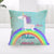 """Unicorns Believe In Miracles"" Pillow Cover"