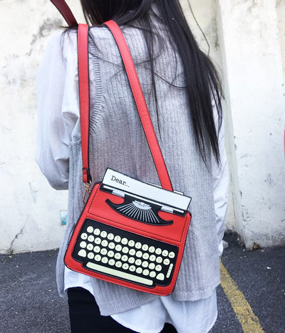 Typewriter Leather Shoulder Bag