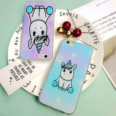 Cartoon Unicorn Multicolored Phone Case - Well Pick Review