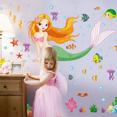 Cartoon Mermaid Removable Wall Sticker - Well Pick Review