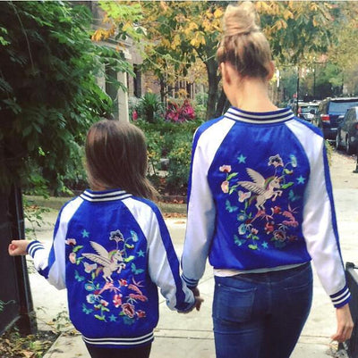 Unicorn Embroidery Kid Baseball Jacket