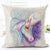Free - Colorful Unicorn Cushion Cover