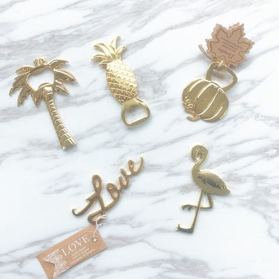 Flamingo Pineapple Creative Gold Bottle Opener