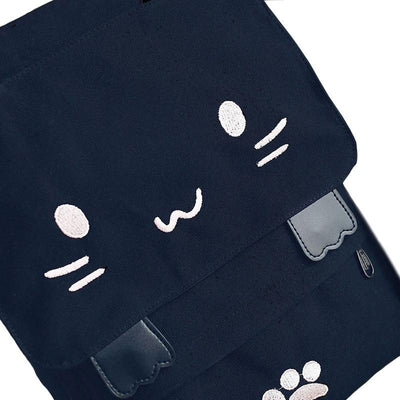 Cartoon Cat Canvas Embroidery Backpacks - Well Pick Review