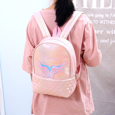 Mermaid Hologram Leather Backpack