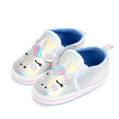 Silver Unicorn Baby Shoes