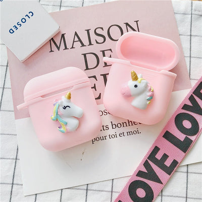 Unicorn Silicone AirPods Case