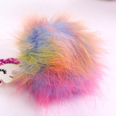 Multi-color Fluffy Unicorn Pompom