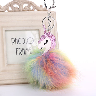 Free - Multi-color Fluffy Unicorn Pompom