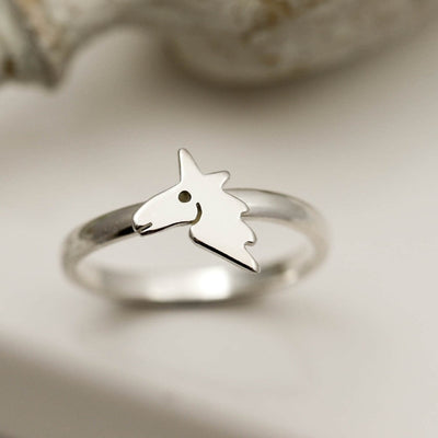 White Unicorn Ring