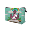 Green Unicorn Castle Cosmetic Bag