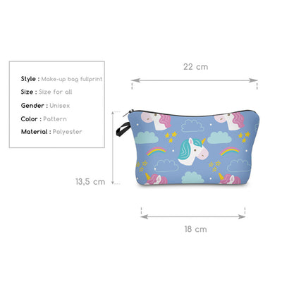 Unicorn Pattern Cosmetic Bag