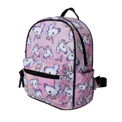 Unicorn Emoji Print Backpack