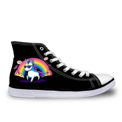 Colorful Unicorn Canvas High Tops - Well Pick Review