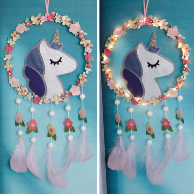 Floral Unicorn Dreamcatcher