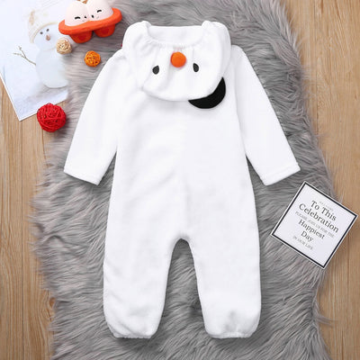 Christmas Baby Jumpsuit/Scarf Set