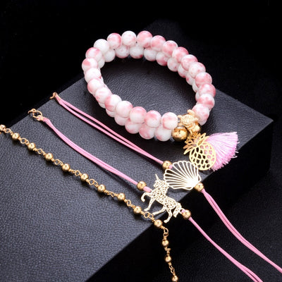 Unicorn Shell Bracelet Set