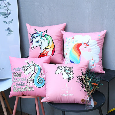 Shinning Unicorn Pillow Cover