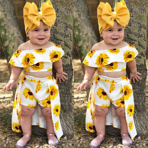 519e2feeb4f49 Baby Girl Sunflowers Clothing Set - Well Pick