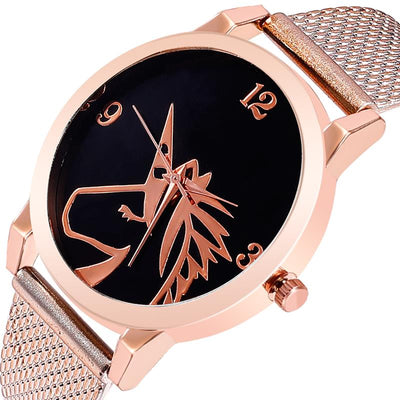 Unicorn Mesh Band Wristwatch