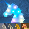 Colorful Light Unicorn Head LED Lamp