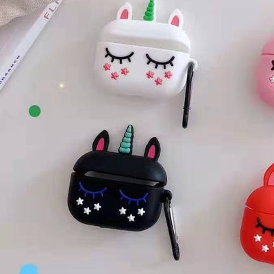 Eyelashes Unicorn Airpods Silicone Case