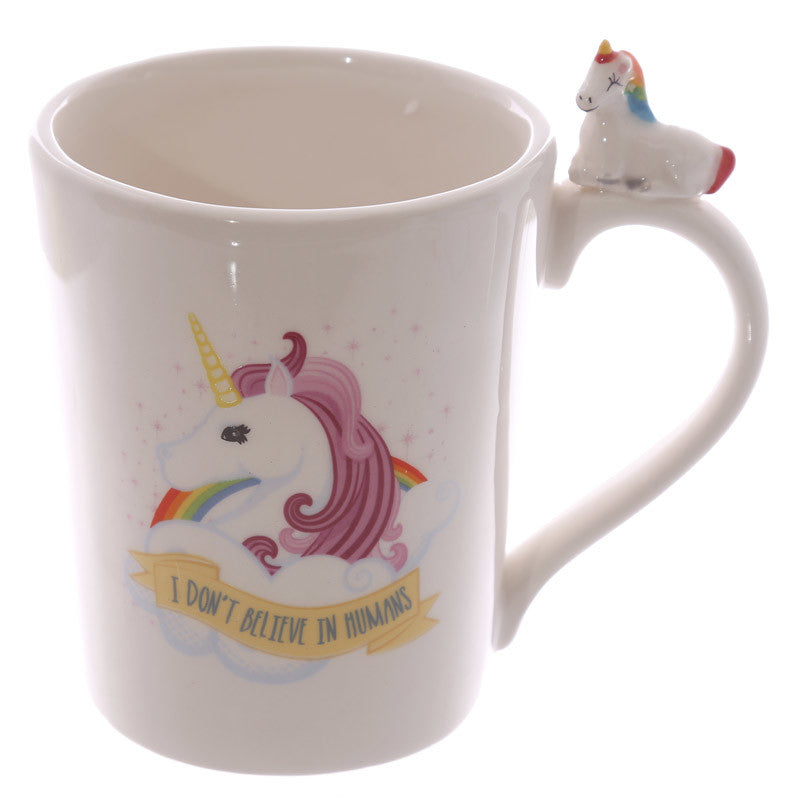 I Don T Believe In Humans Unicorn Mug Well Pick
