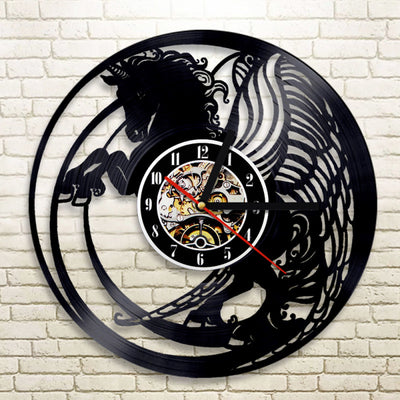 Magical Unicorn Vinyl Record Vintage Wall Clock