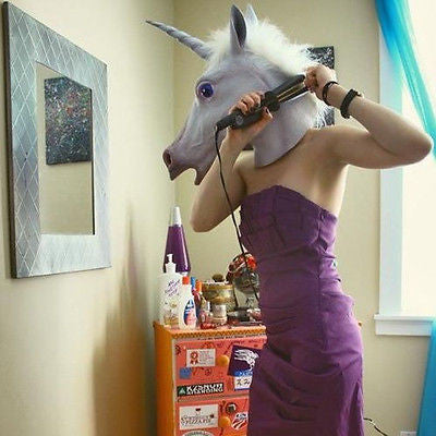 Funny Unicorn Head Mask