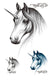 Unicorn Waterproof Temporary Tattoo