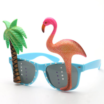 Funny Flamingo Beach Party Sunglasses