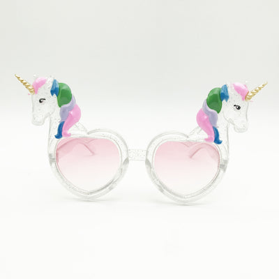 Funny Unicorn Heart Glasses