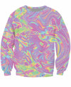 Iridescent Color Crewneck Sweatshirt
