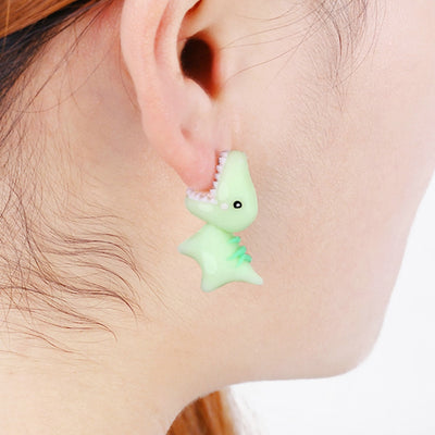 Cartoon Dinosaur Clay Earrings - Well Pick Review