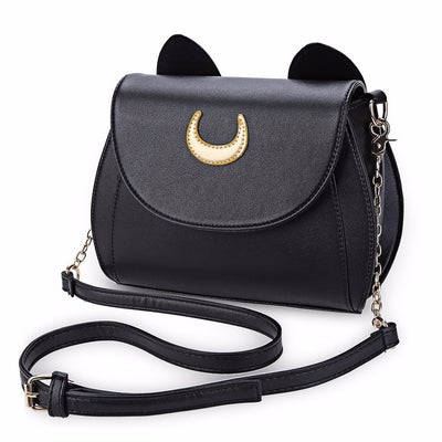 Moon Cat Lady Handbag Black