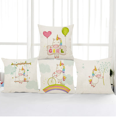 Free - Unicorn Linen Cushion Cover