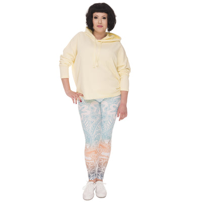 Plus Size Mandala Mint Printed Leggings