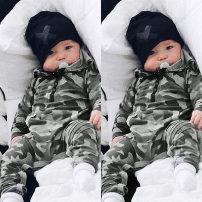 Camouflage Hooded Baby Romper - Well Pick Review