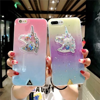 Gradient Diamond Unicorn iPhone Case