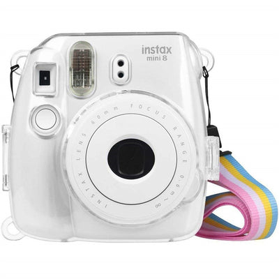 Instant Camera Clear Case & Rainbow Strap