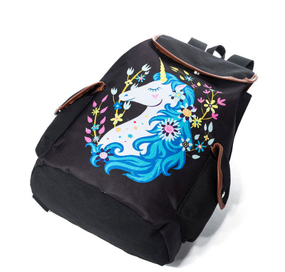 Unicorn Printed School Backpack