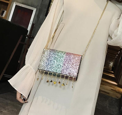 Rainbow Sequined Bag