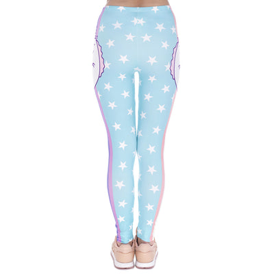 Blue Unicorn Stars Printing Cozy Legging - Well Pick Review