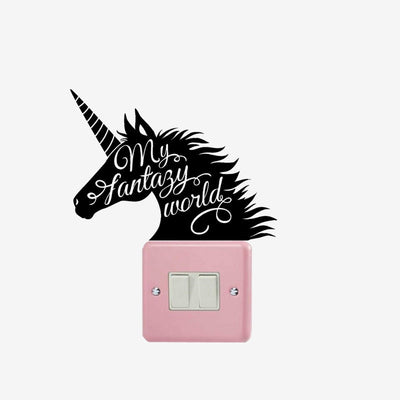 Unicorn My Fantasy World Wall Sticker