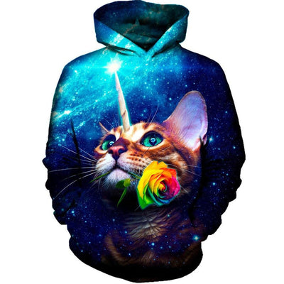 3D Unicorn Cat Galaxy Hoodie - Well Pick Review